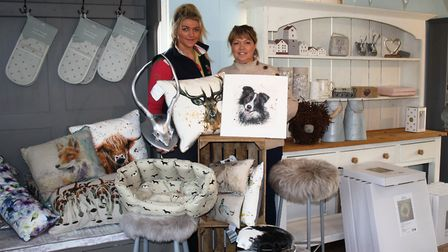 Bex and Sally Letts prepare to open The Country Cabin on Saturday.