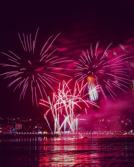 Grand Pier fireworks at sea event