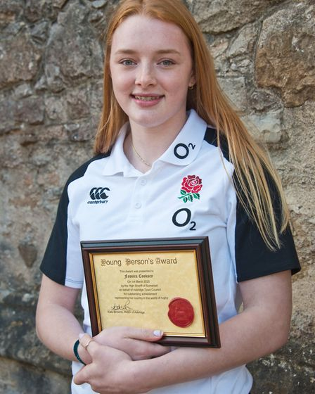Jessica Cooksey who received her civic award from the High Sheriff on behalf Axbridge Town Council.