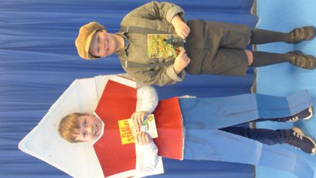 Pupils from Golden Valley Primary School in Nailsea celebrating World Book Day.