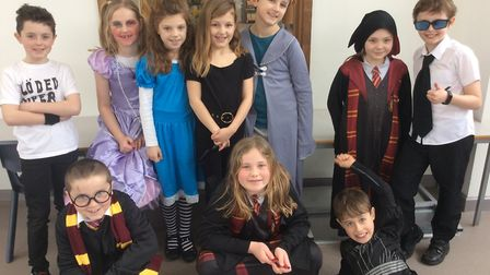 Pupils of St Andrew's Primary School, Congresbury, on World Book Day 2020. Picture: Katie Foreman