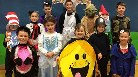 St Francis Primary School pupils in their World Book Day outfits.