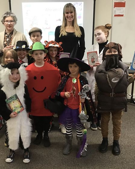 Children dressed up as their favourite book characters