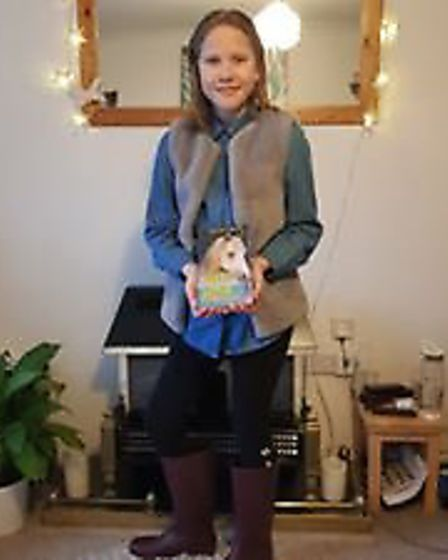 Costume inspired by Olivia Tuffin's The Palomino Pony Wins Through