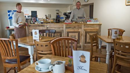 Sonya and Ian Stocker who have opened Congars Café, in Broad Street Congresbury. Picture: MARK AT