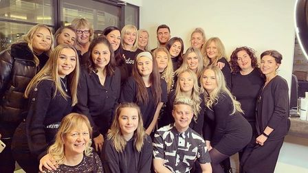 The team at Elements Hair and Beauty have been nominated for a national award. Picture: Elements