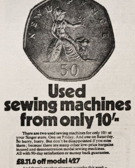 Ads 13th February1970 Edition. Picture: WESTON MERCURY