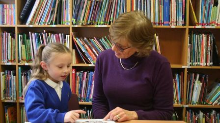 Volunteers provide free one-to-one reading support for primary school pupils.