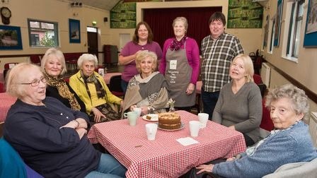 Volunteers and customers at Uphill Victory hall Pop-up café. Picture: MARK ATHERTON