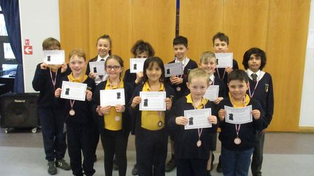 The under-11s chess team at Saint Josephs primary got through to the EPSCA semi-finals.Picture: Sain