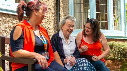 A home carer can be a companion for elderly people to chat to and laugh with. Picture: Right at Home