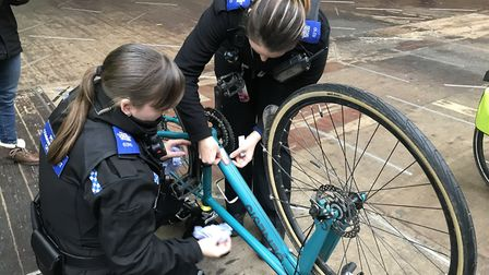 Police will be marking bikes in the Bournville on Wednesday. Picture: Avon and Somerset Constabula