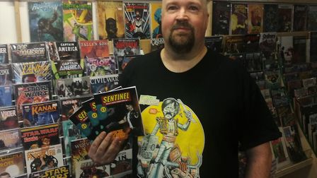 The owner of Meadow Street comic shop, Imaginarium. Alan Holloway has written and released the first