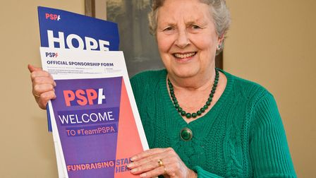 Myra Birdsall will skydive in memory of her husband David in aid of The PSP Association.Picture: MAR