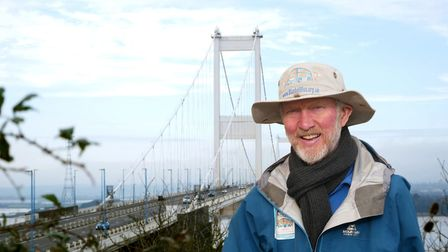 Brian at Severn Bridge. Picture: Dave Harrison