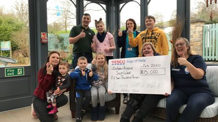 The Children's Hospice South West has received £15,000 from the Tesco Bags of Help scheme Pictures: