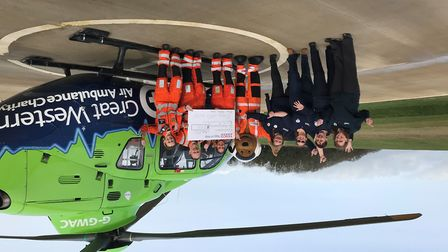 Great Western Air Ambulance Charity has been awarded £25,000 from the Tesco Bags of Help scheme Pict
