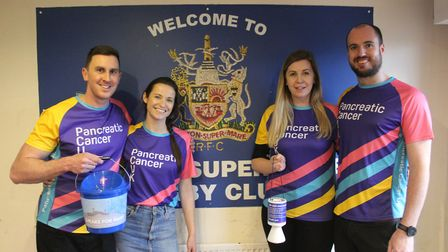 The group raised £465.60 at Weston's game with Barnstaple. Picture: Josh Thomas
