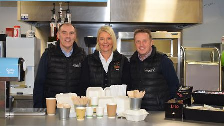 Lee Savage, Aspen Services Sales Manager, Kay Thomas, Puxton Park Manager and Ian Sweeten, Aspen Ser