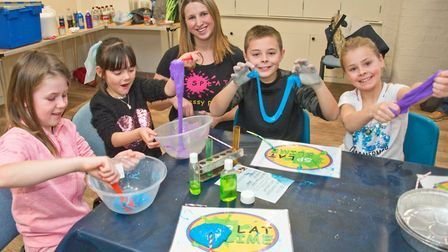 Jess from Splat Messy Play running a slime workshop at Weston Museum. Picture: MARK ATHERTON