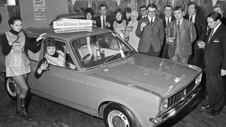The first new British car of the Seventies was announced this week, the Hillman Avenger was on show