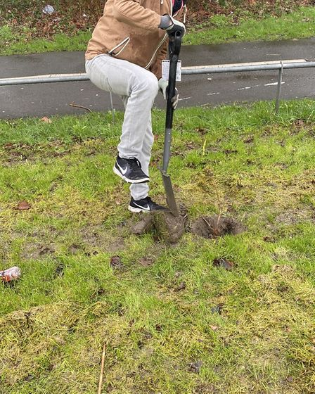 Cllr Ciaran Cronnelly attended the rewilding project at Hutton Moor