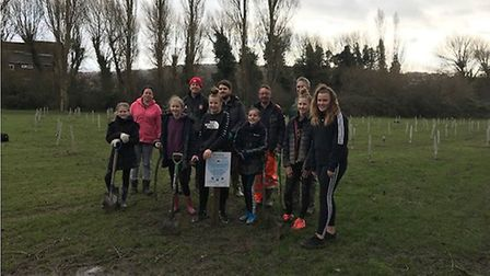 North Somerset Council invited volunteers to help plant 5,000 trees