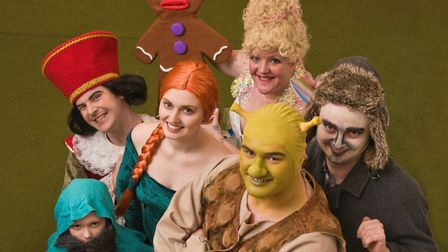 Cast members from Clevedon Light Opera Club's production of 'Shrek The Musical'. Picture: MARK AT