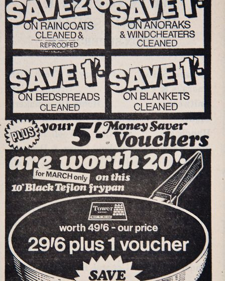 Ads 13th March 1970 Edition. Picture: WESTON MERCURY