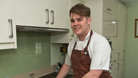 Claverham Chef Jonny Burnett cooking and delivering food for people in coronavirus isolation. Pic