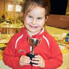 Natalie with the King Cup, awarded for the most points in the under five's category.