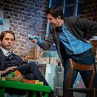 Bo Poraj and Joe Thomas in What's In A Name. Picture: Piers Foley