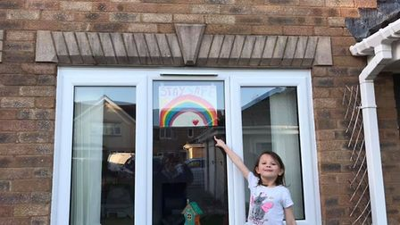 Youngsters with their rainbows. Picture: Rainbow Hunt Wick St Lawrence