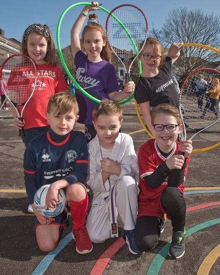 Milton Park Primary School, pupils dressing up and taking part in activities for Sports Relief. P