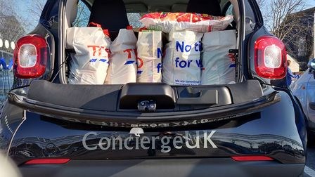 ConciergeUK is using their vehicles to make deliveries.
