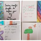 Pupils from Uphill Primary School sent cards to patients at Weston Hospicecare.