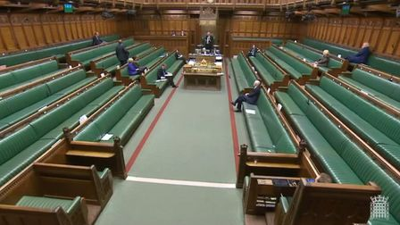 House of Commons business finishes four hours early. Photograph: Parliament TV.