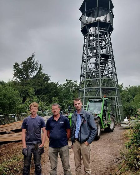 Gorge operations manager Leon Troake with Andy Winsley and George Patch from MJ Patch. Picture: Elea
