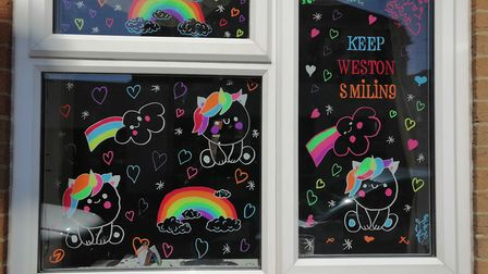 An example of the #KeepWestonSmiling art movement.