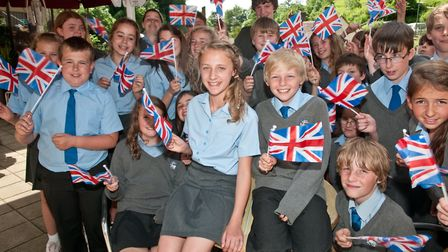 Children from Fairlands Middle School. Picture: Mark Atherton
