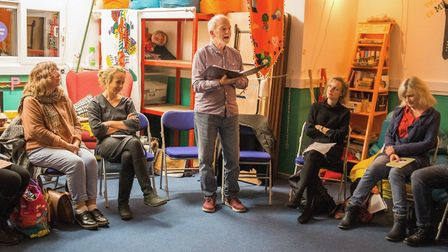 Bob Walton poetry reading. Picture: Marie-Dominique Demers-King