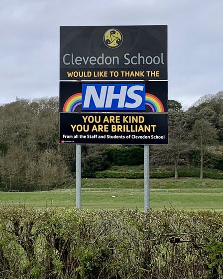 Clevedon School has thanked the NHS