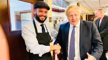 Boris Johnson with Mohamed Abou-Zid.
