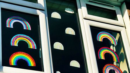 Some of the rainbows have been displayed in windows