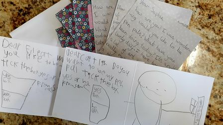 Pupils at the school have started writing letters to other students at their school
