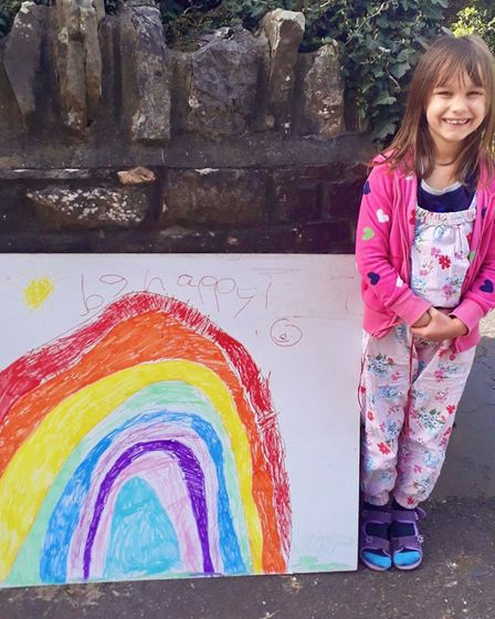 Students have been drawing rainbows