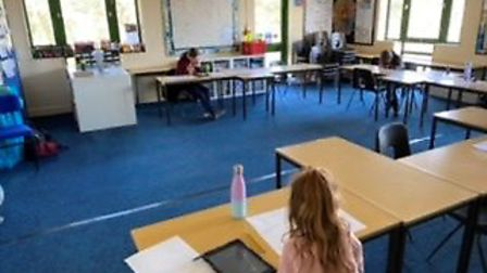 Classrooms at the school as only children of keyworker attend