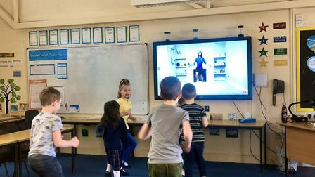 Pupils have been getting fit with Joe Wicks
