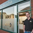 Mark Ashman launching his Micro Pub off Nailsea High Street. Picture: MARK ATHERTON