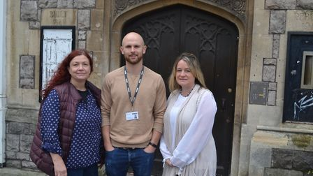 Lead coordinators Hillary Coombes and Liona Hurst with YMCA's Joe Heslop.Picture: Eleanor Young